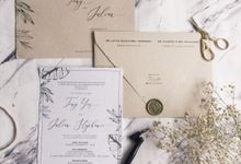 Tropical Leaf by Trouvaille Invitation