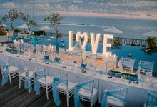 Dinner decoration at Pool Site by Jc Florist Bali