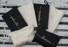 Personalized Bridesmaids Gift Canvas Pouch by Kelsye Studio