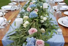 Romantic Dusty Blue by d'Oasis Florist & Decoration