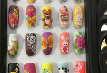 3D acrylic designs  by Elegant Nail Indonesia