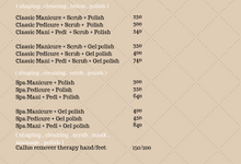 Ala carte price list by Elegant Nail Indonesia