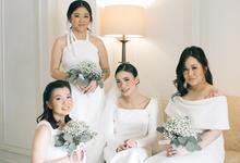 Classic White Wedding of Rio & Jess by Elsie Chrysila Brides
