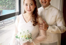 Intimate wedding for Warren and Sarah by Emil Ocampo Fashion House