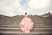 Custom Pink Prewedding Gown by Priska Henata