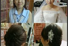 makeup and hairdo service by Elemente beauty