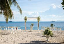Wedding Ceremony held at Zen Bungalows by Beach Weddings Koh Phangan