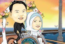 Wedding Carricature by POP ART CARRICATURE