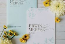 Erwin & Merysa by Bluebelle Invitations