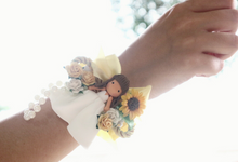 Rustic Corsage And Wristband by de hijau hejo