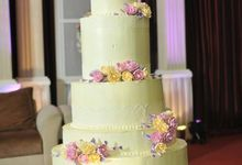 5 Tier Wedding Cake by Uci Bakery