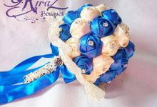 aphrodite diamond medium bridal bouquet handmade by Kiraz Bouquet