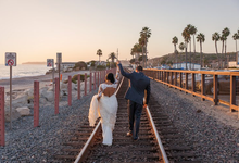 San Diego sunsets with Lucy & Brian  by Explore in Love Adventure Wedding Photography