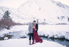 Mammoth Engagement session with Lucy & Brian  by Explore in Love Adventure Wedding Photography
