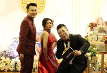 ENGAGEMENT DAY OF ELLY & ERIC AT WYNDHAM HOTEL by JIMMY & LIECHEN MC and Magician Wedding Specialist