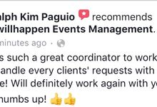 Client Appreciation and Feedback for 8willhappen Events Management by 8willhappen Events Management