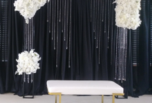 Engagement party backdrop by Fairytale Unique Decor