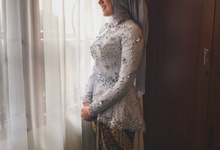Dusty blue and Silver Kebaya  by FANNY KARTIKA