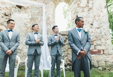 Maximien & Fatou  - A Castle Ruins Wedding in France by SuperPanda Presents