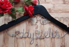 Wedding Hangers with Lovebird Add-On! by Béllicimo Personalized Hanger & Favors
