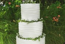 The Wedding Cake Of Sandy & Verita by Moia Cake