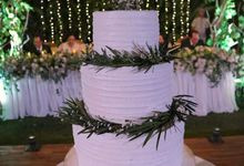 The Wedding Cake Of Timothy & Amydhea by Moia Cake