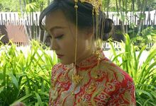 Red QUN KUA Bride by Angel Chua Lay Keng Makeup and Hair