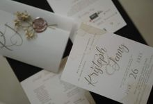 Vellum wrapped and wax sealed by Ribbons and Prints