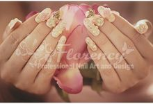 Pink and Peach are the Sweetest by Florency Nailart