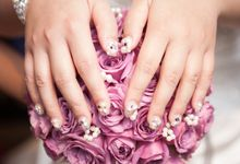 3D Nail art for wedding day by Luz Bello 3D Nail Art-Extension