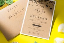Wedding Invitation Rustic Japanese by Kanoo Paper & Gift