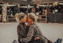 Female couple Winter Lake Bled proposal by Wedding Lake Bled