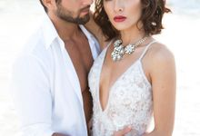 Beautiful fashion wedding in scenic location  Isla Mujeres Mexico by Alesia Solo Make Up Artist & Hairstylist