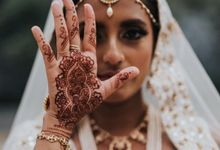 Bohemian Indian wedding  Beautiful bride Aureen by Alesia Solo Make Up Artist & Hairstylist