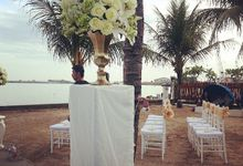 Ceremony by the beach by Ambience Occasions