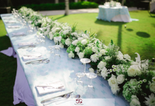 White & Tosca Wedding Theme, Ceremony & Reception by Bali Events Master, Weddings & Events