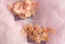 Double Headpiece by Sequeen Couture