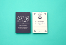 Nautical template design by Vicky Perry Wedding Stationery