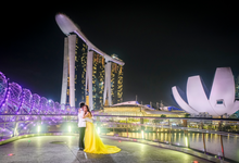 A Bright Night in Singapore  by crudolph photographos