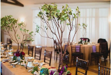 Table Pieces for Texas Wedding by Brown Fox Creative
