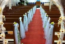 Simple church wedding setup by ilmare Wedding