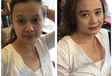 Salon hair & make up clients by Posh Tips Salon & Spa