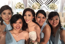 KENNY & MICHELLE • Glamorous Cinderella by MALVA Bridesmaids