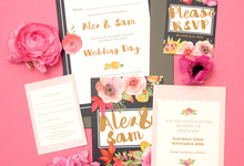 Blooms template design by Vicky Perry Wedding Stationery