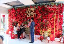 Red Sangjit Dicky & Elzshia by Yulika Florist & Decor