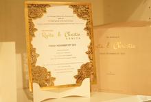 Memoir Wedding Exhibition - Lasercut Rustic Design by Memoir Paperie