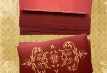 Red Envelope Waldheim & Widya by Blue Label Invitation
