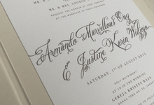 Handwritten classic invitation and liturgy book by Pensée invitation & stationery