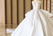 The white butterfly wedding ball gown  by windia wijaya