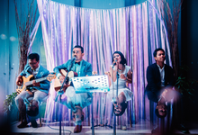 Wedding reception at alila villa by AkuSTIKA Bali entertainment